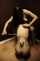 The Nude Cellist by Bonedaddybruce