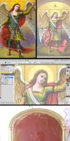 Commisioned Icon of Archangel Michael by MedaGritzko
