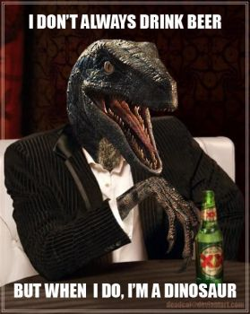 The Most Interesting Dinosaur In The World by deadcal