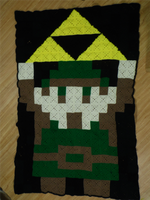 Link and Triforce Crochet Afghan by naturegirl52180