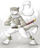 The Feline Swordsman by Cinna-Tree