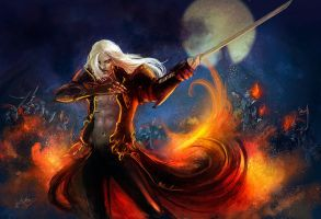 Alucard - Casttlevania LoS2 by Esther-Sanz