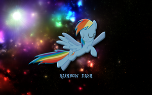 Rainbow Dash Wallpaper by JoeHellser