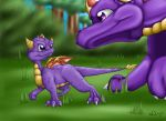 Spyro and a Baby Dragon by Cattensu