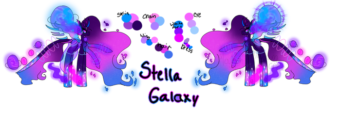 Queen Stella Galaxy (Celestial Guardian Pony) by MadamStargate