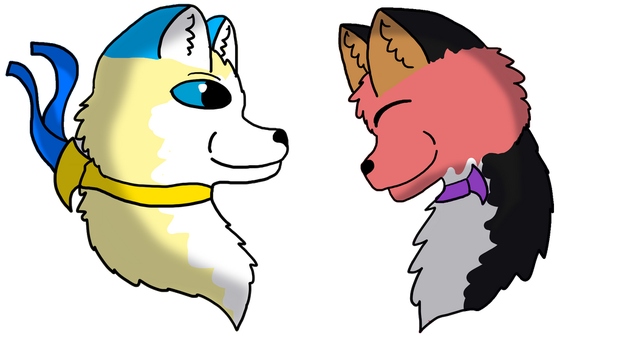 [commission] fizzy and pep headshots by Bluejayartist