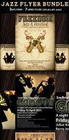 Jazz Party Flyer Template Bundle by Hotpindesigns
