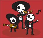 the dead mexican mariachi by kungfumonkey