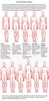 Female body shapes by ravendark82