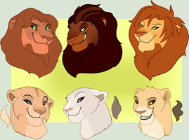 Lion Bust Adopts- closed by oCrystal