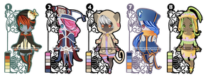 (CLOSED) - Chibi Girls Adoptables - Auction #03 by Timothy-Henri