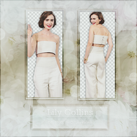Png Pack 530 - Lily Collins by BestPhotopacksEverr