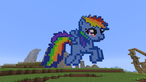 Filly Rainbow Dash in Minecraft 2 by Ivo-Kintobor
