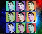 Warhol Inspired Smiling Spock by Rabittooth