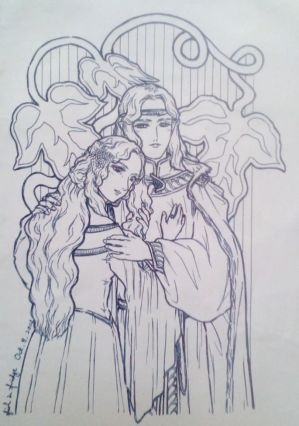 Finrod and Amaire by fish-in-fridge