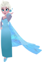 Disney Infinity Elsa with Dress Train by FlyingPrincess