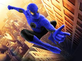 Blue Lantern Spider-Man by 666Darks