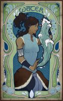 Korra Nouveau - Water by lycanthropeful