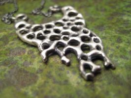 silver matrix decay necklace by discomedusa