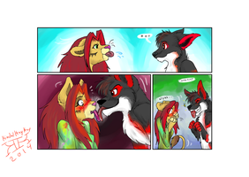 little furry comic from tff by kindalkaykay