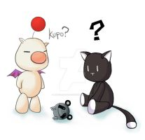 Look at what Moogle and Mr. Mew found by angelgirlsko12