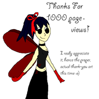 Thanks For 1000 by Luciferspet