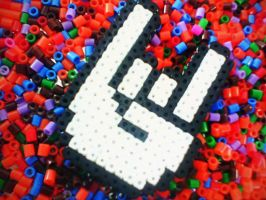 Perler beads Rock Sign by Jocarsan