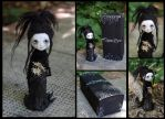 Kiana the banshee. One of a kind gothic art doll. by Lauramei