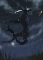 Commission - Night Hunt by BlOFREAK