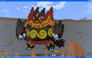 Emboar On Minecraft by Miccopicco