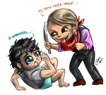 Chibi Hannigraham 1 - Let me eat you by FuriarossaAndMimma