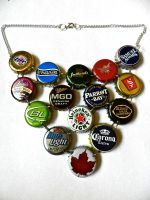 Bottle Cap Necklace by AtomicColor