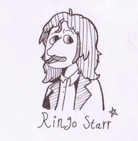 Sketch#1:  Ringo Starr (The Beatles) by KabouterPollewop