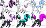 Free foxes (closed) by Silversadopts