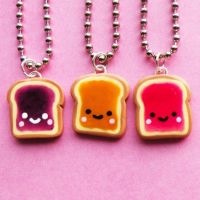 Colourful Toast Necklaces by AsianBunni