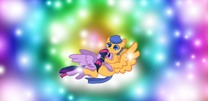 MLP the Sparkles of love and beauty TwilightXFlash by HeroHeart001