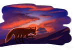 Fox in a sunset by HTOdinTH