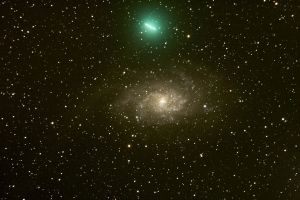 comet 8P-tuttle and M33 II by frenchbear