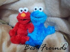 Elmo and Cookie Monster by bigheartedgirl