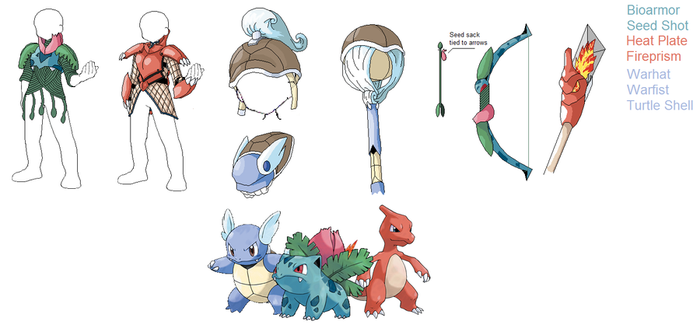 PSC- Evolved Kanto Starters by Lybra1022