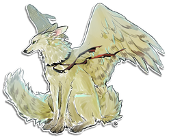 Winged Canine by Shiro-Marusu