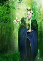 Bamboo Forest Fairy by hazhangzhong