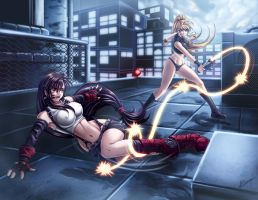 Tifa vs Samus by Karosu-Maker
