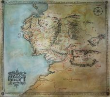 Map of Middle Earth by HelevornArt