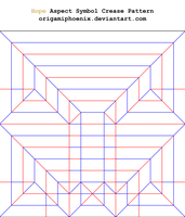 Hope Aspect Symbol Crease Pattern 1.0 by OrigamiPhoenix