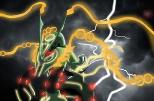 Mega Rayquaza ( Let the Lighting Strike ) by ColorDrake