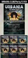URBANIA PARTY FLYER TEMPLATE by Hotpindesigns