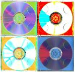 Colorful Compact Discs by lorderk