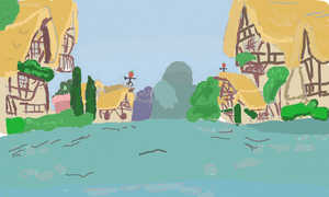 Ponyville background by Ironwox