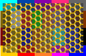 TRANS. GOLD AND GREY HEX double density EXAMPLE by l4k3